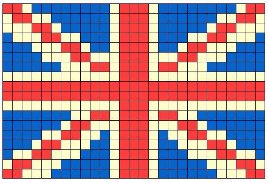 Английский флаг вышивка 80