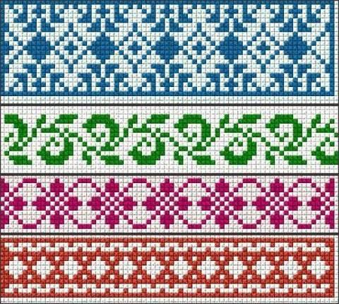 Схемы плетения браслетов из бисера станочным ткачеством.